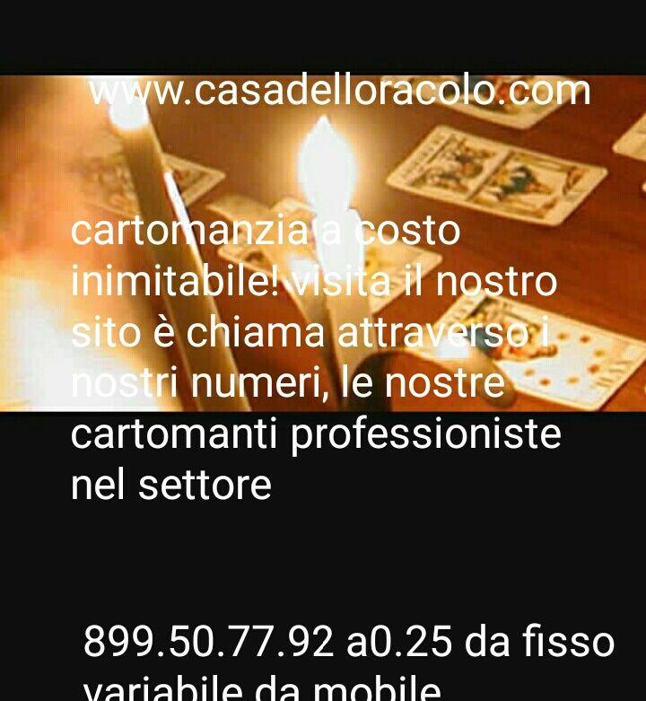 Oroscopi - Tarocchi - cartomanzia a basso costo a soli 0,25 cent al minuto su www.casadelloracolo.com